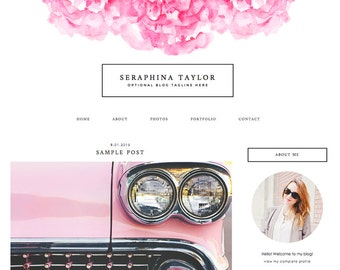 "Blogger Template, Blog Template, WordPress Template - ""Seraphina 