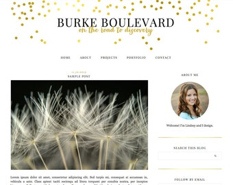 "Blogger Template, Blog Template, Blog Design - ""Burke 