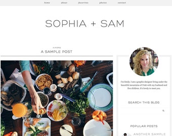 """Blogger Template, Blog Template - """"Sophia 
