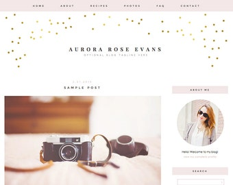 """Blogger Template, Blog Template - """"Aurora 
