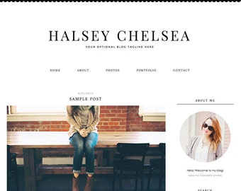 """Blogger Template, Blog Template - """"Halsey 