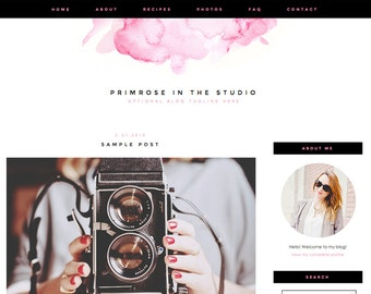 """Blogger Template, Blog Template - """"Primrose 