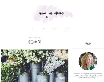 """Blogger Template, Blog Template - """"Alexa 