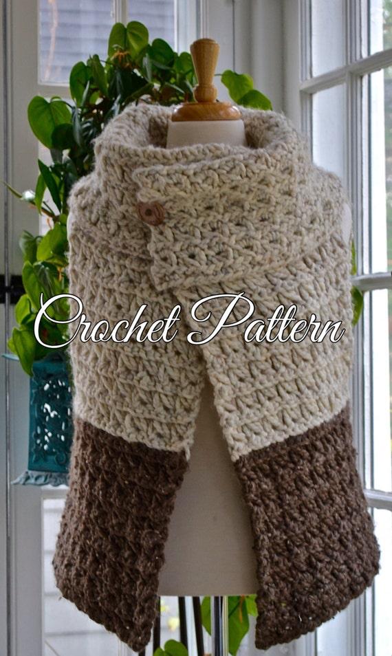 Crochet Pattern Womens Chunky Yarn Vest 3 Sizes Sm Etsy