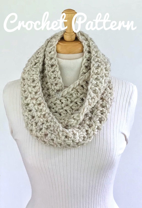 CROCHET PATTERN The MANDY Infinity Scarf Mom and daughter One | Etsy