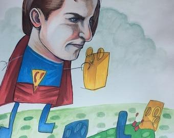 ORIGINAL Lego Superman collaboration
