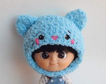 Crochet Kitten Hat for Mini MuiChan and Dal