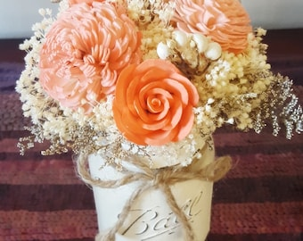 Coral Wedding Decor Etsy
