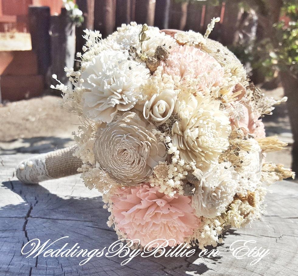Fall Wedding Flowers List: Blush Champagne Sola Wedding BouquetFall BouquetsSola