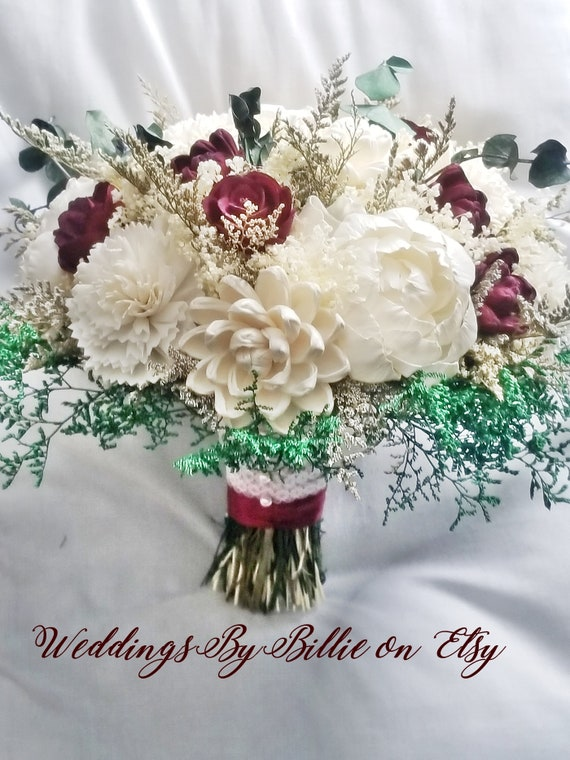 Wein Bordeaux Sola Eukalyptus Hochzeit Blume Blumenstrauss Etsy