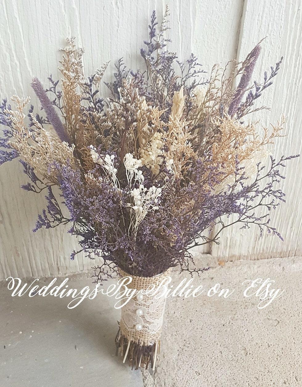 Dried flower bouquet lavender wheat caspia babies breath etsy zoom izmirmasajfo
