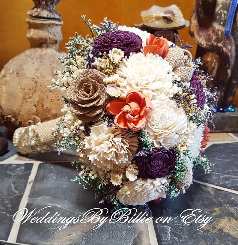 Orange Rustic Wedding Flower Petals Shabby chic Rustic Parties Burlap Lace