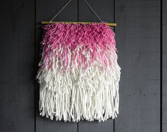 Woven wall hanging/ textile weaving/ wall art tapestry