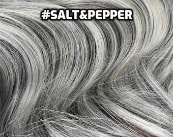 100% Human Hair WIRE extension Hand-made Salt&Pepper