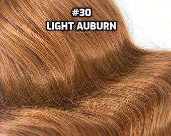 100% Human Hair WIRE extension Hand-made Light Auburn