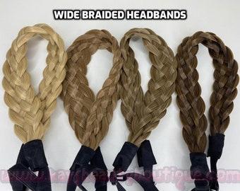 WIDE Braided Headband Premium Quality Human hair like synthetic hand made hair bands