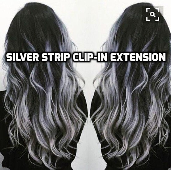 100 Human Hair White Silver Gray Platinum Blonde Strip Etsy