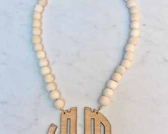 Charm Candy Studio Authentic White Druzy Edged in Gold Hand Beaded Crystal Necklace