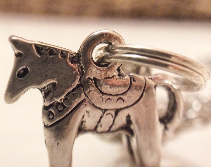 Swedish Dala Horse Necklace, Silver, Bronze, Dala, Sweden, Swedish, Tradition, Sverige, Svenska, Horse, The Swedish Flicka