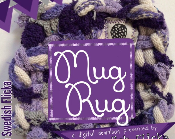 PDF How to make a Mug Rug,Potholder Loom, Mug Rug instructions,The Swedish Flicka,Tutorial,Potholder,Loopers, Loops, Weaving, Coasters