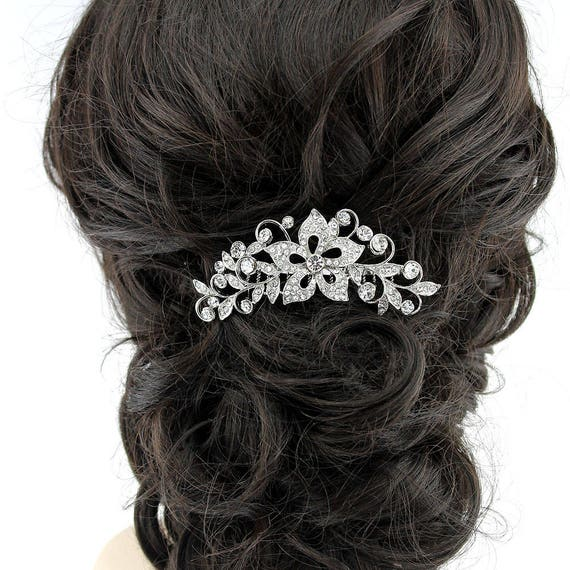 Rhinestone Bridal Hair Comb Vintage Glam Wedding Headpiece Bridal Hairpiece Wedding Hair Comb Bridal Hair Clip Bridal Hair Accessory