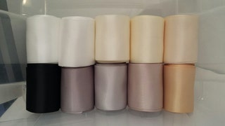 SAMPLE _ 10 Colors, Double Faced Satin Ribbon