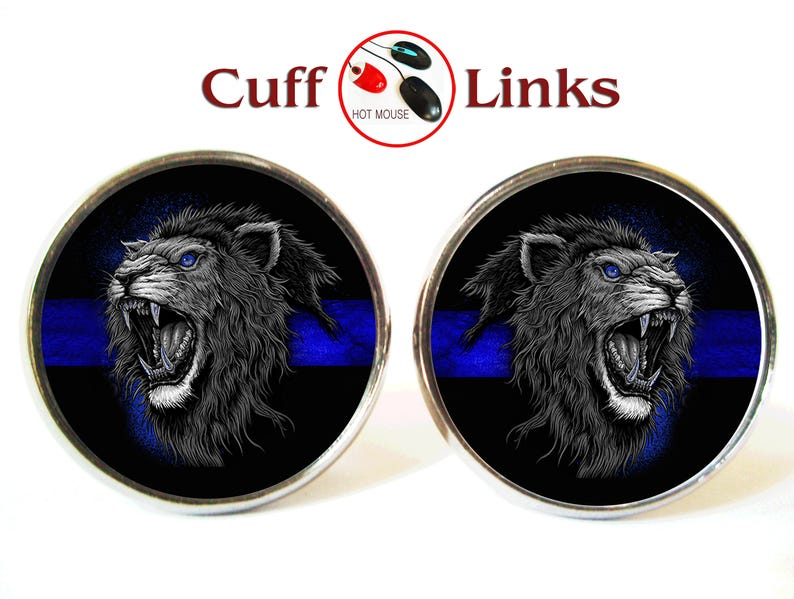 Thin Blue Line Men/'s Cufflinks Cuff Links Set
