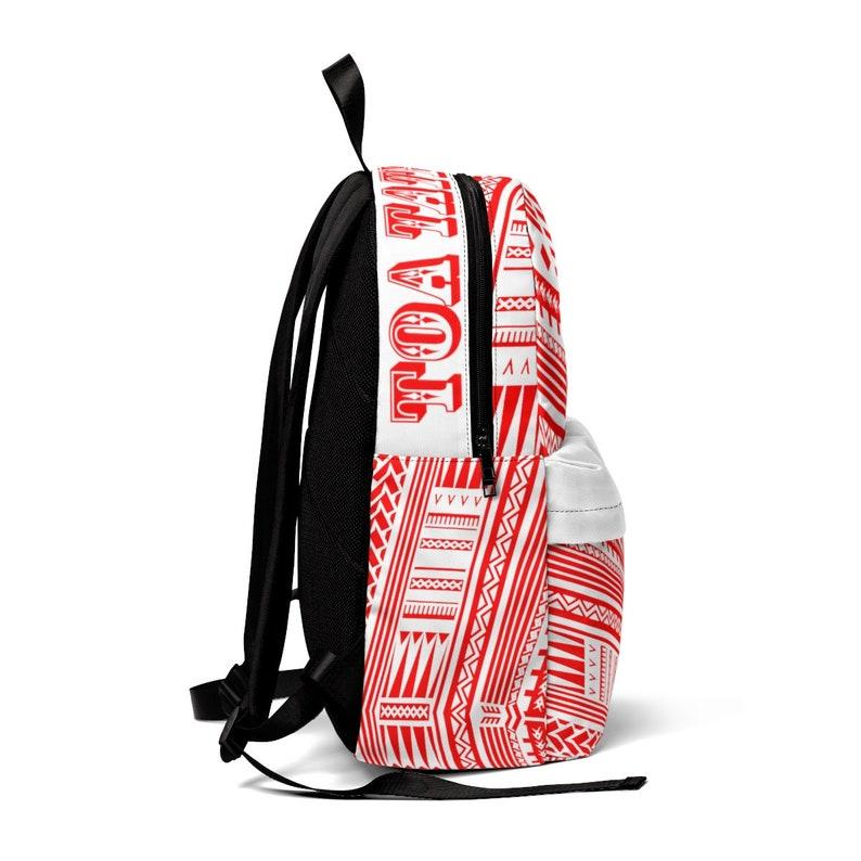 Custom Polynesian Tattoo Matina Red White Classic Backpack