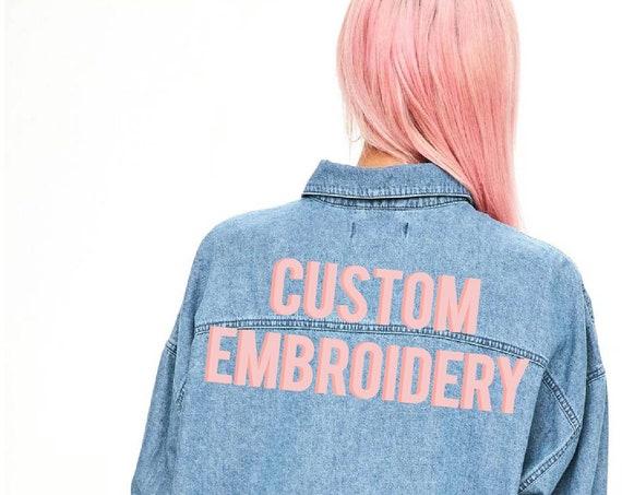 Custom Embroidered Denim Shirt