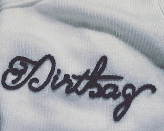 """Dirtbag"" Hand Embroidered Tank Top ~ Made to Order"
