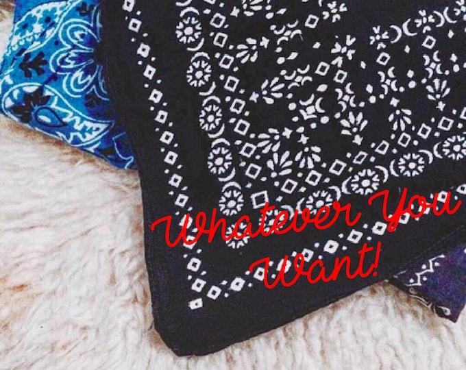 Custom Embroidered Vintage Bandana