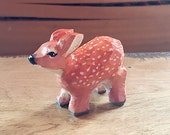 Hand Carved Wooden Fawn...