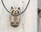 Raccoon Totem Necklace, H...