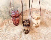 Bear Totem Necklace, Hand...