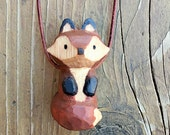 Fox Totem Necklace, Hand ...