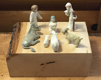 Tiny Handmade Nativity Set