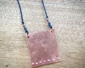 Hammered Copper Necklace with Studs