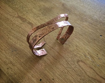 Copper Bangle Bracelet Set