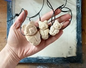 Bear Totem Necklace, Hand Carved, Choice of Stain Color, Choice of Size (New size options!)