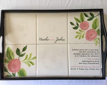 Ultimate wedding gift, treasured memory of their wedding invitation, keepsake, serving tray, memento