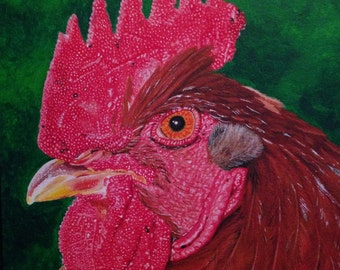 Custom Pet Portrait in Acrylic on Canvas reflecting your pet's personality.