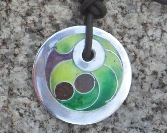 Abstract Cloisonne Pendant