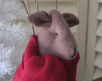 SALE: Primitive Reindeer - Dasher  - Reindeer Decoration - Holiday Room Decor - Primitive Christmas Decoration - Winter Room Accent