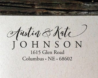 Return Address Label Labels New Home Calligraphy Wedding Invitation Custom