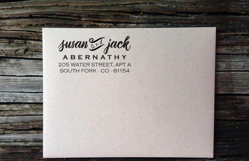 Wedding Invitation Labels Return Address Label Modern Script Bold Return Address Labels Custom Return Address Labels Custom Address