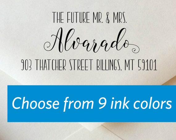 Personalized Stamp Address Stamps Self Inking Wedding