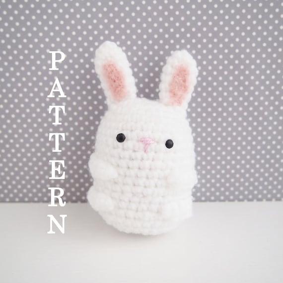 Mini Bunny Amigurumi Keychain Little Bunny by BubblyTeaShop ... | 570x570