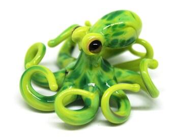 Small Glass Octopus glass figurine Miniature Octopus Little Glass Animals Murano Gift Blown Sculpture Art Collectible Artglass Lampwork