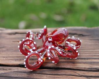 Glass Octopus pendant  Kraken Glass  glass figurine Octopus Glass Ocean Octopus pendant  Octopus Figurine
