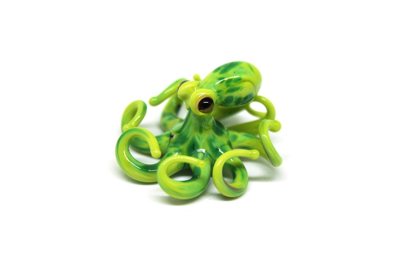 Small Glass Octopus glass figurine Miniature Octopus Little image 0